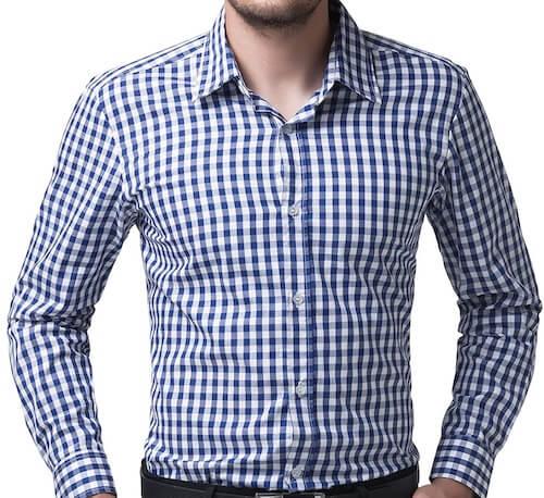 チェックワイシャツ