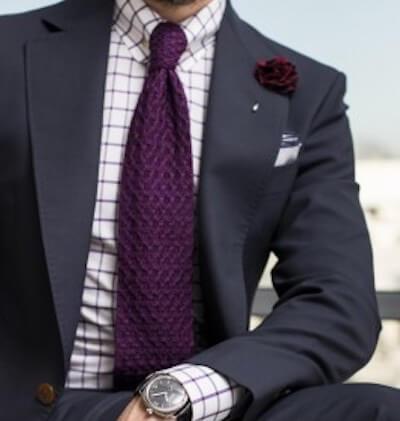 チェックシャツとネクタイの組み合わせ