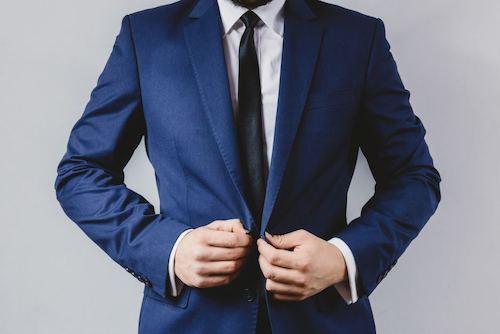 結婚式スーツ柄