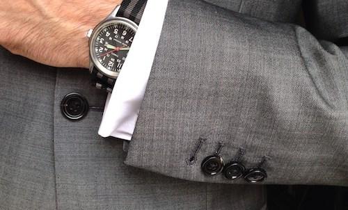 結婚式スーツボタン袖