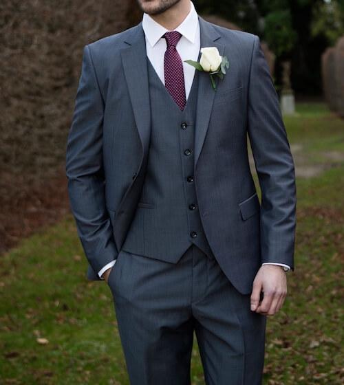 結婚式グレースーツスリーピース
