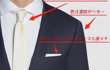 結婚式ネイビースーツ
