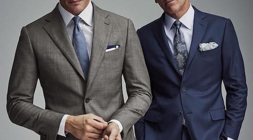 結婚式スーツネイビーグレー色