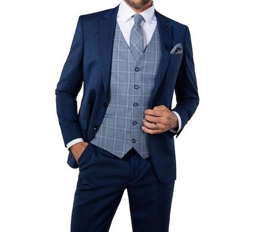 スーツのベスト柄