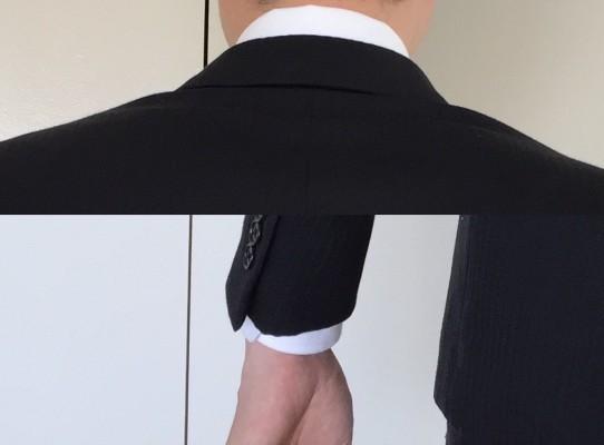 後ろ襟ー袖