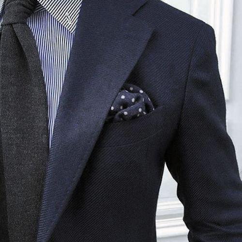 ネイビースーツグレー無地ネクタイストライプワイシャツ2
