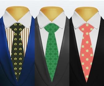 小紋柄ネクタイとスーツの組み合わせ