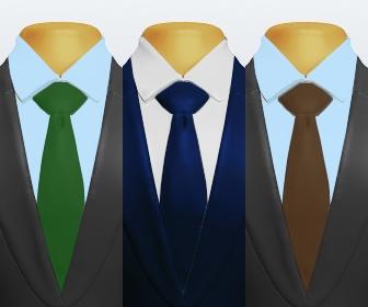 無地ネクタイとスーツの組み合わせ