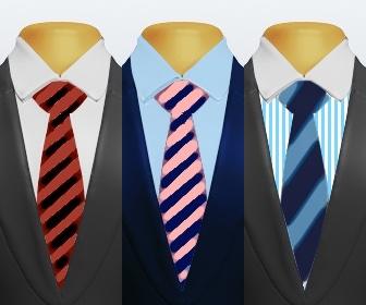 ストライプネクタイとスーツの組み合わせ