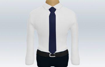 白ワイシャツと紺無地ネクタイの着こなし
