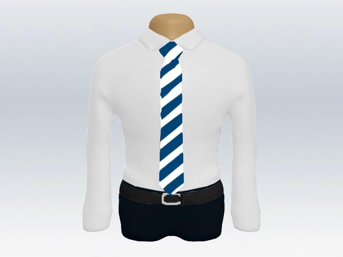 白紺太ストライプネクタイとワイシャツ