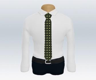 白ワイシャツと小紋柄ネクタイの着こなし