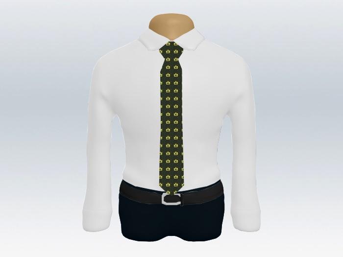 白ワイシャツビリジアン小紋ネクタイ