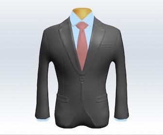 ライトグレースーツと無地ネクタイの着こなし