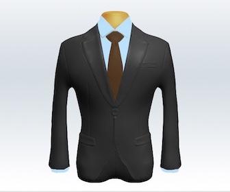 グレースーツと無地ネクタイの着こなし