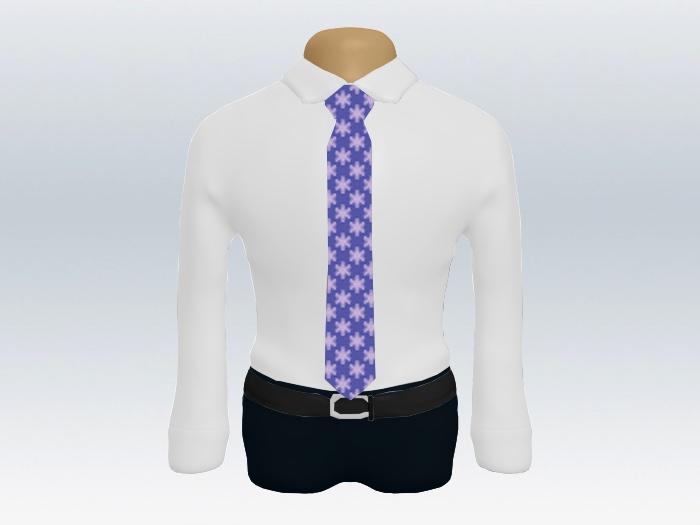 白ワイシャツ紫小紋ネクタイ