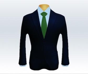 ダークネイビースーツと無地ネクタイの着こなし