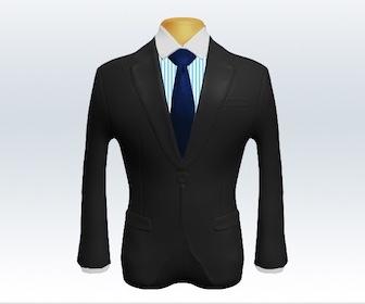 ダークグレースーツと無地ネクタイの着こなし
