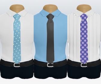 ワイシャツの色柄別着こなし例