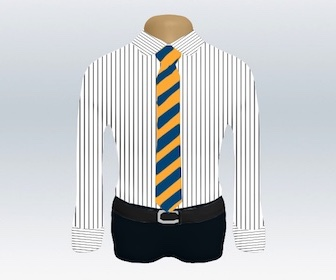 ストライプワイシャツとストライプネクタイの着こなし