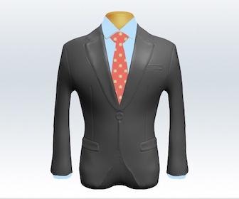 ライトグレースーツと小紋柄ネクタイの着こなし