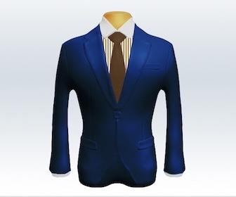 ライトネイビースーツと無地ネクタイの着こなし