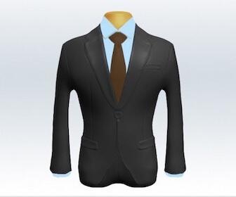 無地ネクタイとグレースーツの組み合わせ