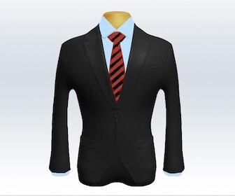 ストライプネクタイとチャコールグレースーツの組み合わせ
