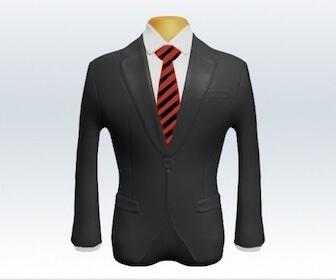 ストライプネクタイとグレースーツの組み合わせ