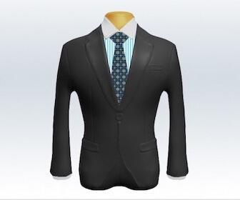 小紋柄ネクタイとグレースーツの組み合わせ