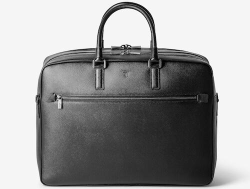 セラピアン型押し革ビジネスバッグ